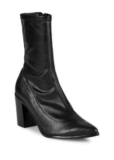 Schutz Block-Heel Sock Booties