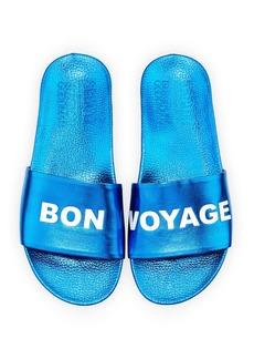 Schutz Bon Voyage Metallic Slide Sandal