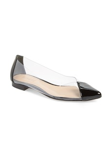 Schutz Clearly Pointy Toe Flat (Women)