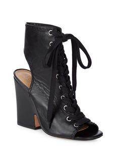 SCHUTZ Dudaflor Lace-Up Leather Sandals