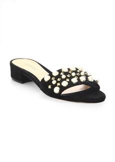 Schutz Eloise Embellished Leather Sandals