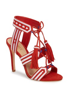 Schutz Eurica Embroidered Tassel Sandal (Women)