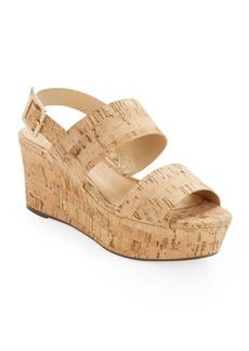 Schutz Fankia Cork Platform Wedge Sandals