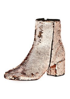 Schutz Flippy Sequined Ankle Bootie
