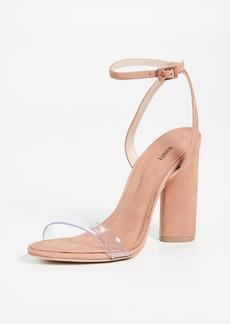 38a3af5337b SCHUTZ Cruz Lace-Up Suede Block Heel Sandals