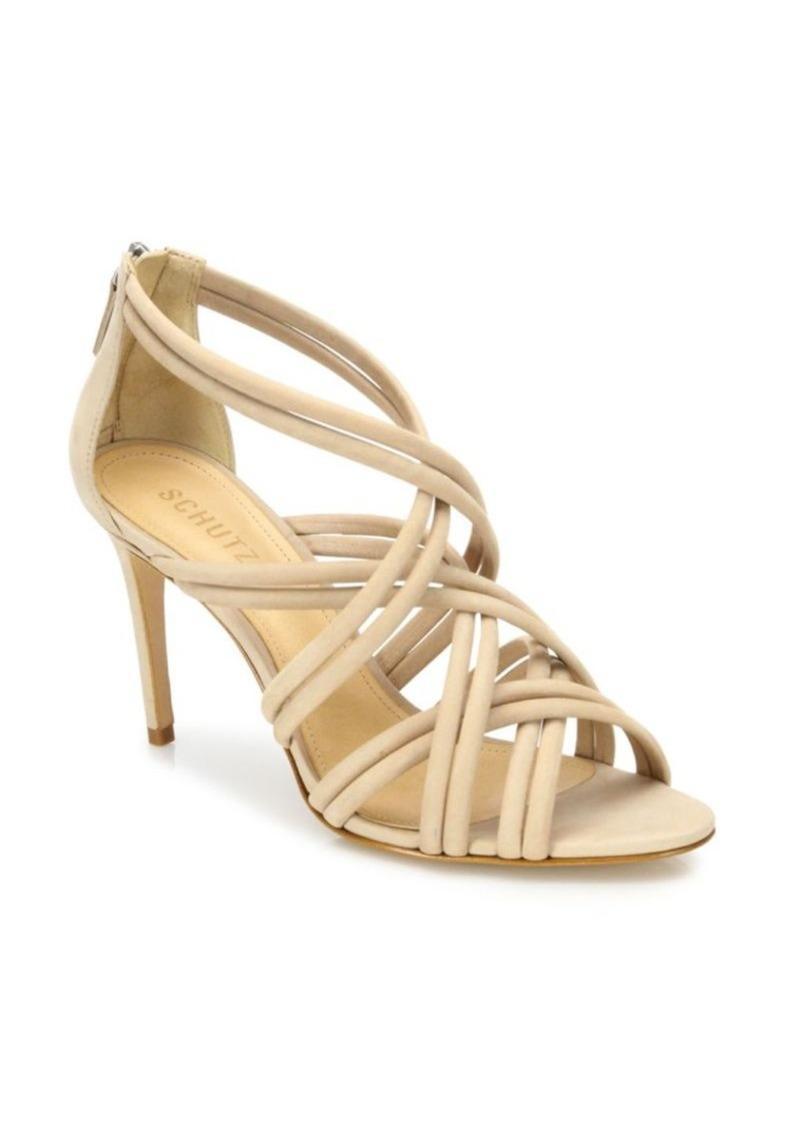 Schutz Glassy Strappy Suede Sandals
