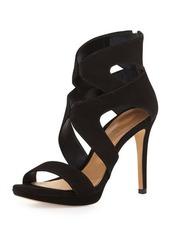 Schutz Hazel Strappy Suede Platform Sandal