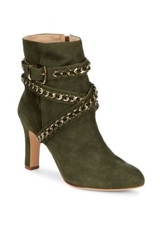 SCHUTZ Izzy Ankle Wrap Suede Boots