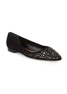 SCHUTZ Jesse Stud Leather Flats