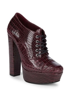 SCHUTZ Katrine Embossed Leather Booties