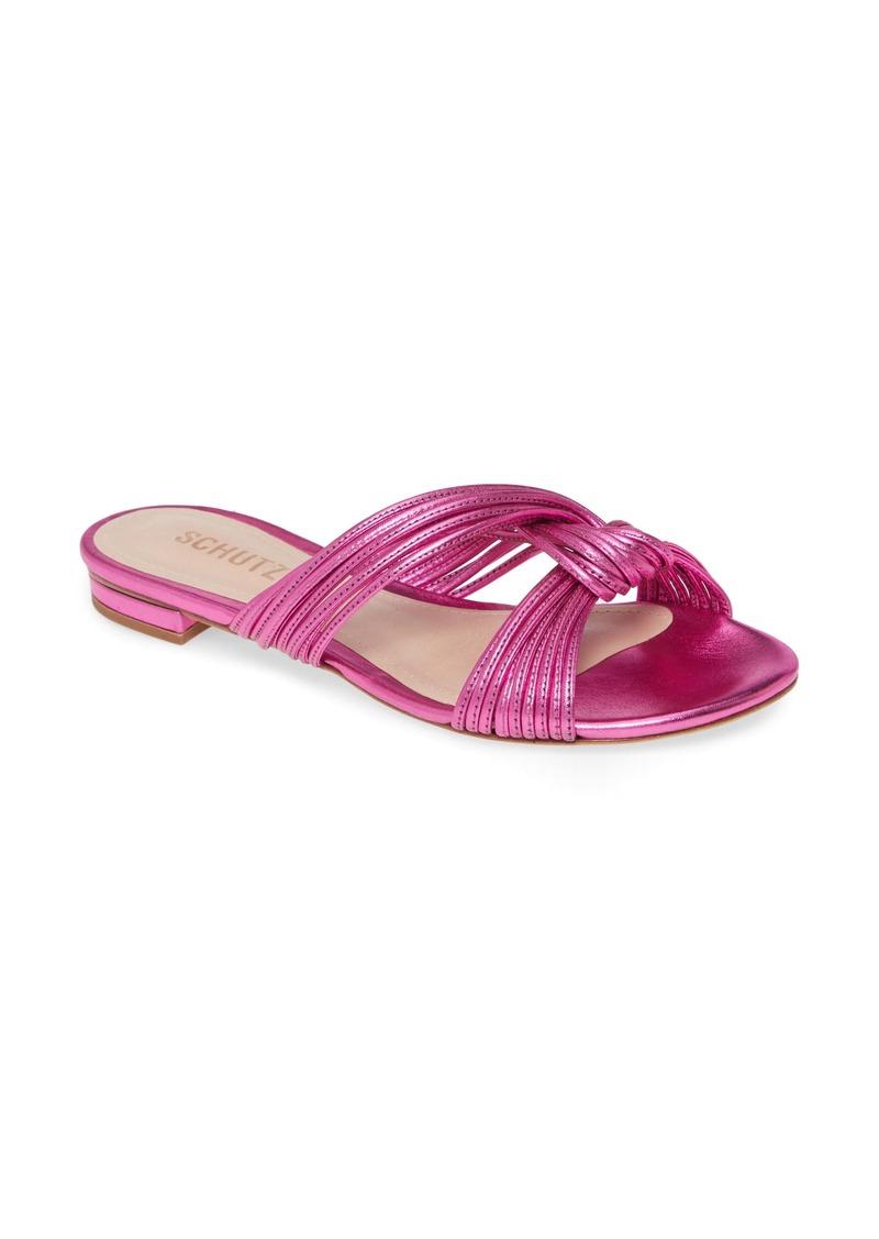 Schutz Kayla Metallic Sandal (Women)