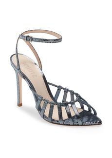 Schutz Kellie Leather Ankle Strap Sandal