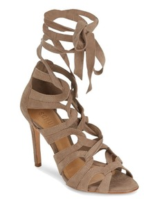 Schutz Petrina Lace-Up Leather Sandals