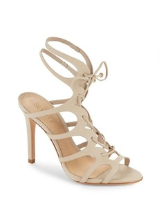 SCHUTZ Laurine Leather Stiletto-Heel Sandals