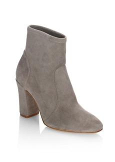SCHUTZ Leather Block Heel Booties