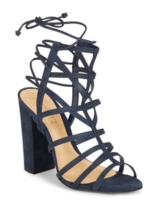 Schutz Loriana Leather Open Toe Cage Sandals
