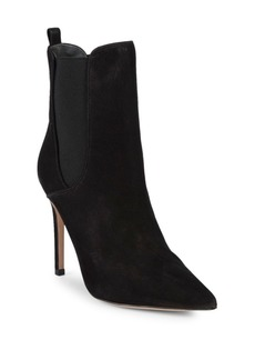 Schutz Leather Stiletto Heel Bootie