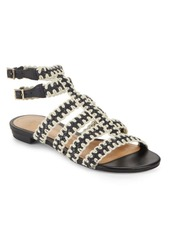 SCHUTZ Lorena Woven Leather Sandals