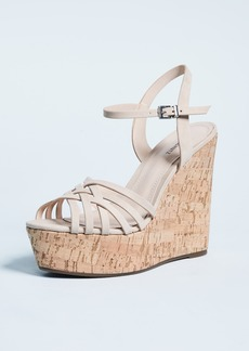 Schutz Louna Strappy Wedge Sandals