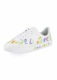 Schutz Love is Love Leather Sneakers
