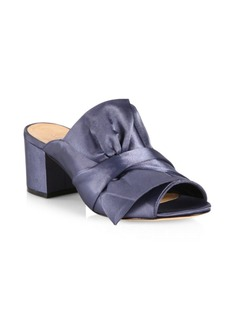 Schutz Manon Satin Block Heel Sandals