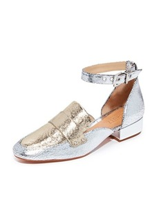 Schutz Moka Ankle Strap Loafers