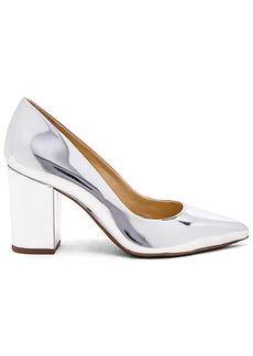 Schutz Moranita Heel in Metallic Silver. - size 10 (also in 6,6.5,7,7.5,8,8.5,9,9.5)