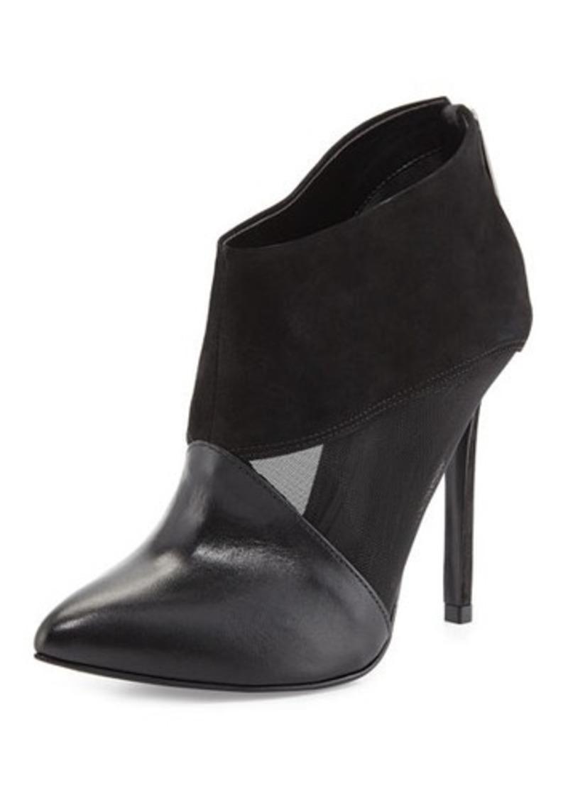 Schutz Pia Mesh/Leather Bootie