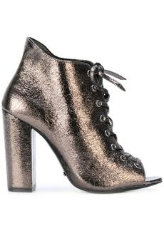 Schutz platform lace-up sandals - Metallic