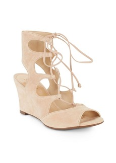 Schutz Ruthie Suede Gladiator Wedge Sandals