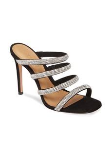 Schutz Sariah Strappy Crystal Slip-On Sandal (Women)
