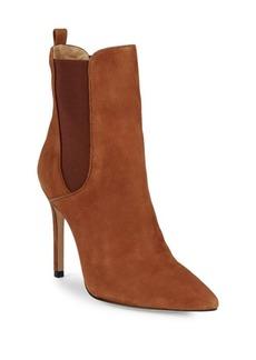 Schutz Side-Gore Stiletto Heel Leather Bootie