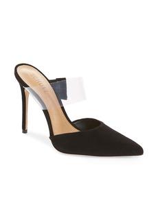 Schutz Sionne Clear Strap Pointed Toe Mule (Women)