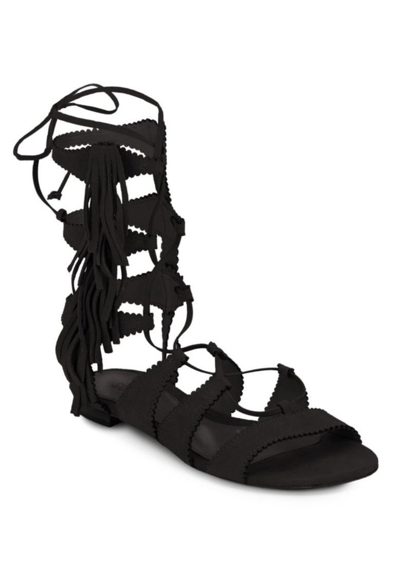df5124f18c82 SCHUTZ Schutz Sonya Suede Lace-Up Sandals