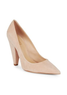 SCHUTZ Stiletto Suede Platform Pumps