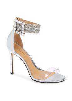 Schutz Tanisha Crystal Ankle Strap Metallic Sandal (Women)