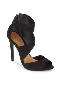 Schutz Vladi Leather Stiletto-Heel Sandals