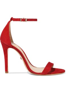 Schutz Woman Cadey Lee Nubuck Sandals Red