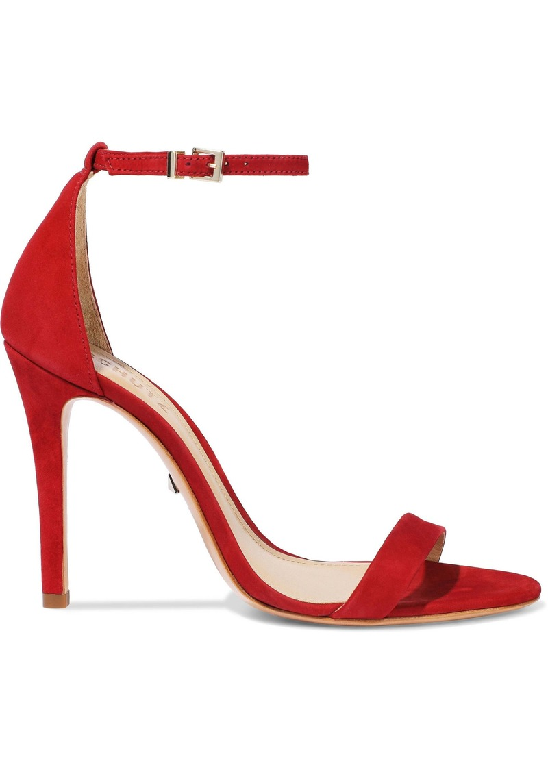 Schutz Woman Cadey Lee Nubuck Sandals Red