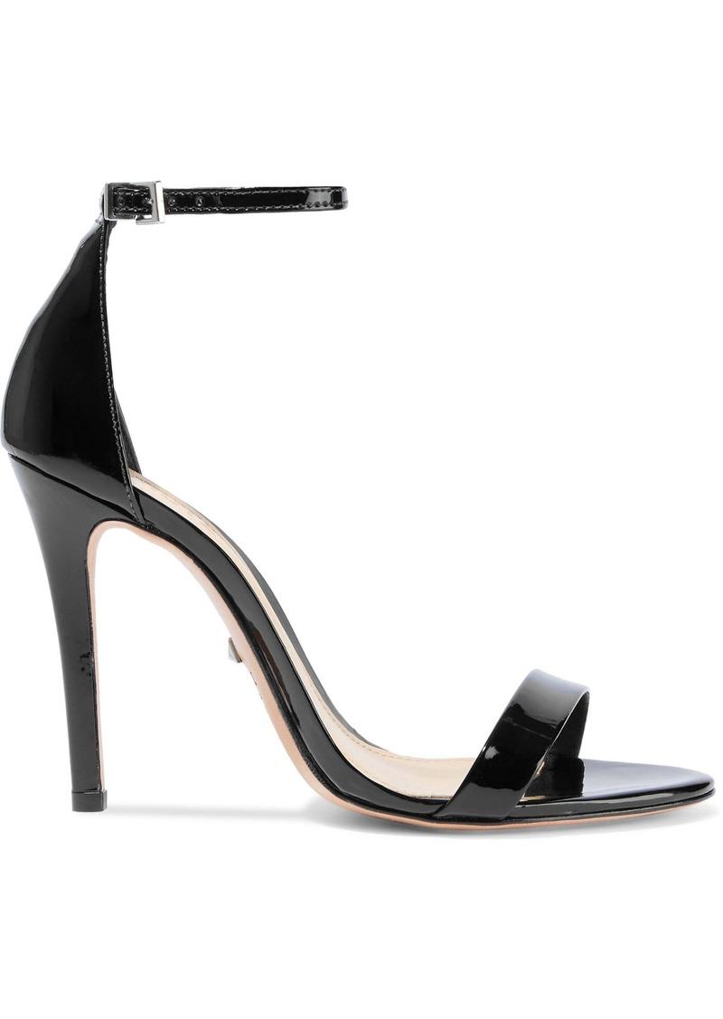 Schutz Woman Cadey Lee Patent-leather Sandals Black