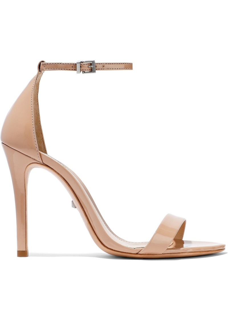 Schutz Woman Cadey Lee Patent-leather Sandals Sand