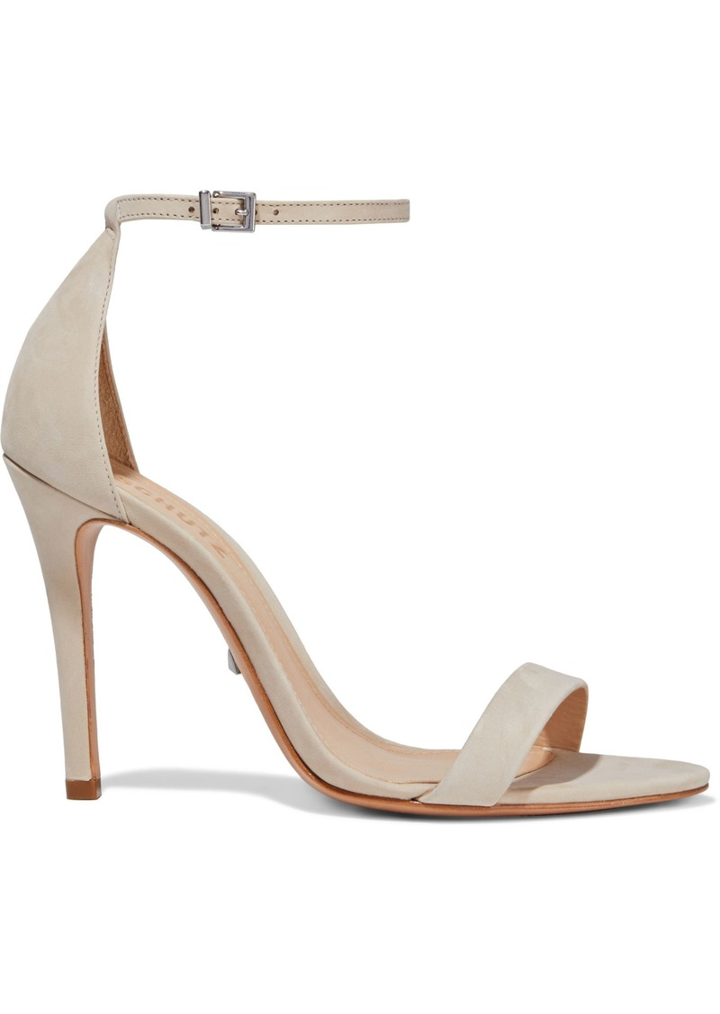 Schutz Woman Cadey Lee Suede Sandals Neutral