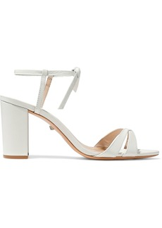Schutz Woman Hericca Leather Sandals Ecru