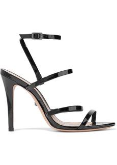 Schutz Woman Ilara Mirrored-leather Sandals Black