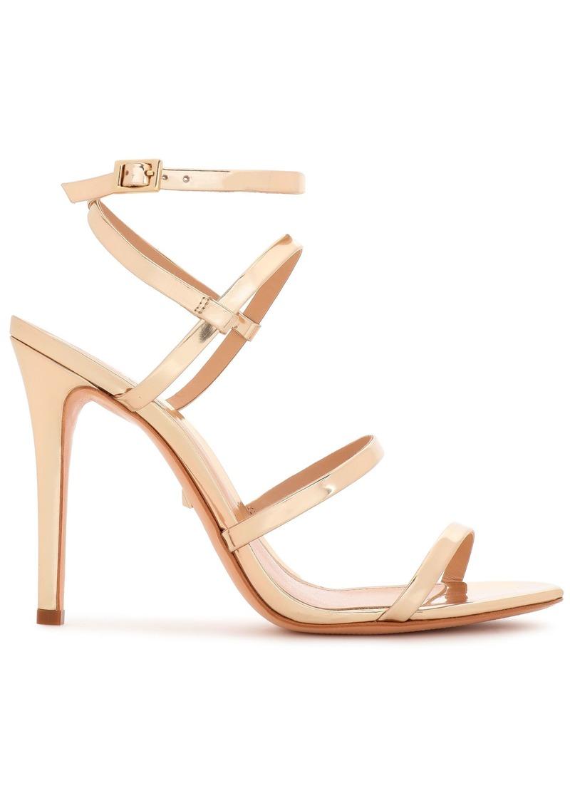 Schutz Woman Ilara Mirrored-leather Sandals Gold