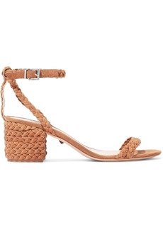 Schutz Woman Kandy Braided Suede Sandals Light Brown