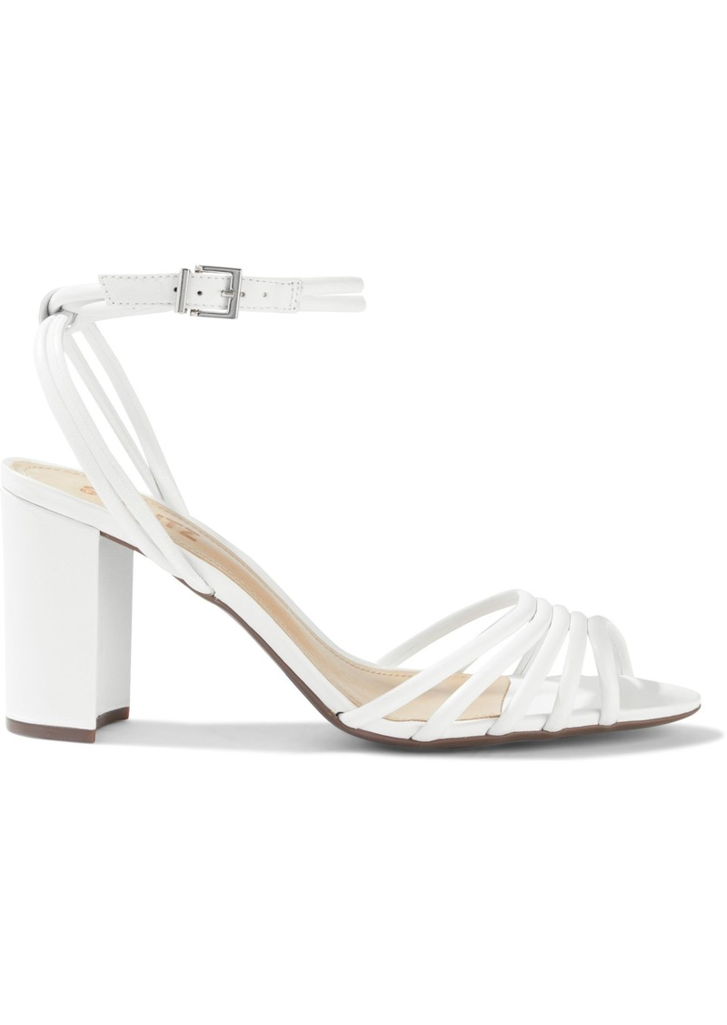 Schutz Woman Leather Sandals White