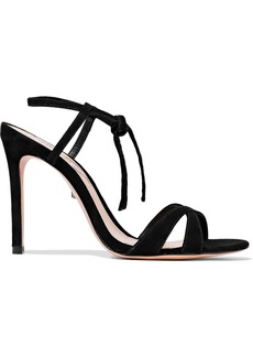 Schutz Woman Magna Suede Sandals Black