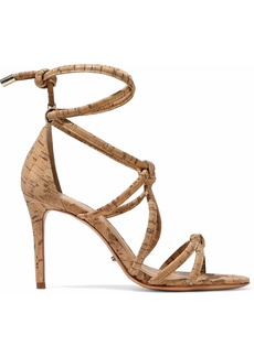 Schutz Woman Nadia Knotted Cork Sandals Sand