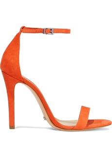 Schutz Woman Nubuck Sandals Bright Orange